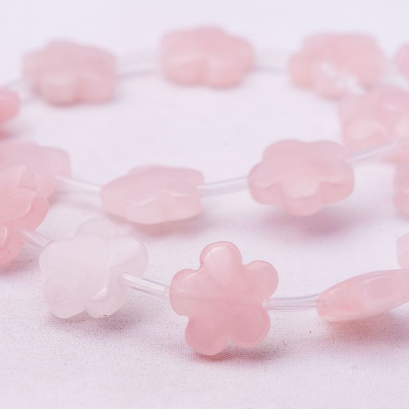Cuart roz flori 15 mm