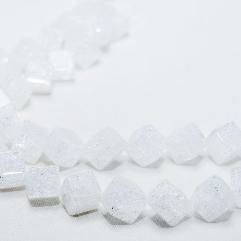 Cristal gheata cuburi 8 mm diagonala - magazinuldepietre.ro