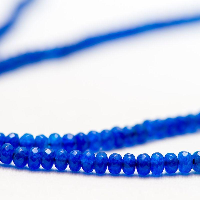 Jad albastru discuri fatetate 4 mm