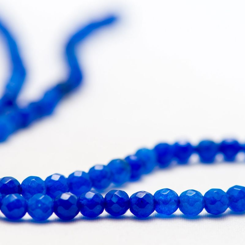 Agat bleumarin sfere fatetate 4 mm