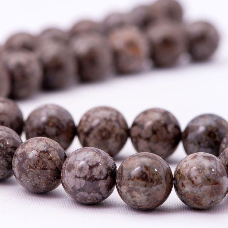 Obsidian snowflake maro sfere 12 mm