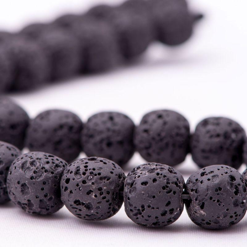 Lava negru sfere 12 mm