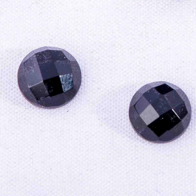 Cabosoane onix rotund fatetat 8 mm - 5 per