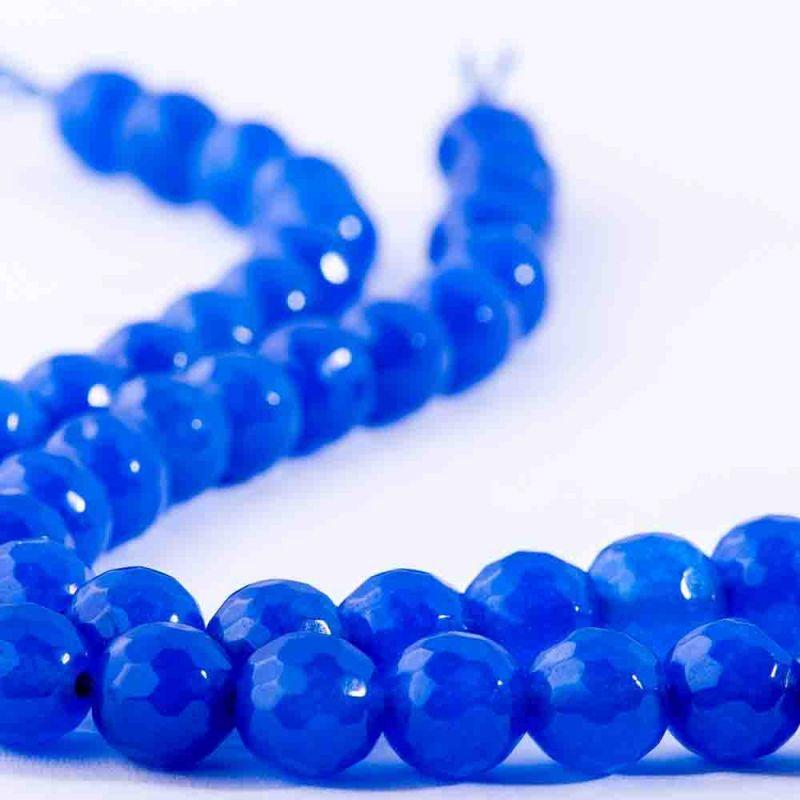 Agat bleumarin sfere fatetate 8 mm