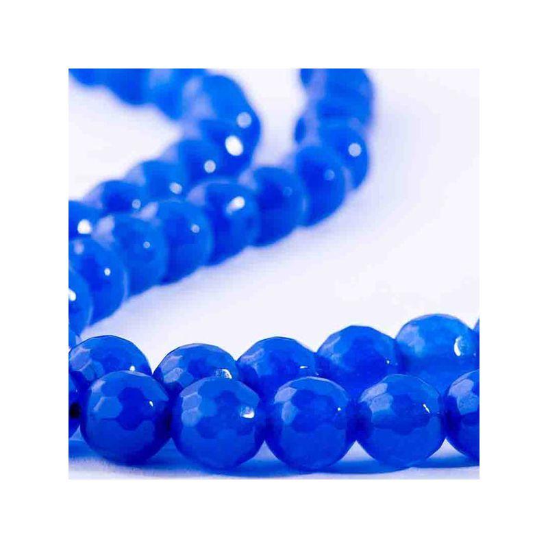 Agat bleumarin sfere fatetate 10 mm