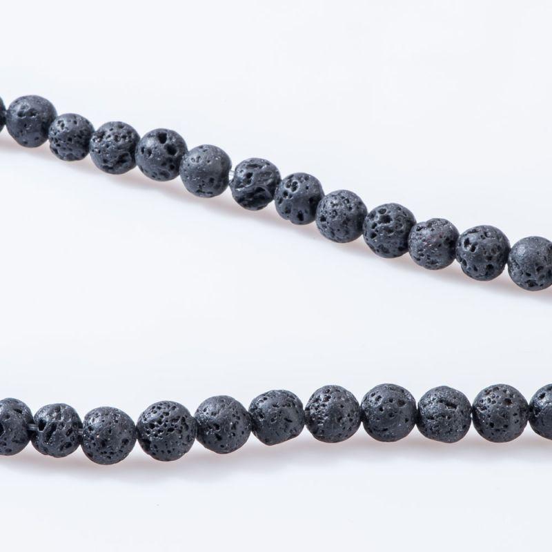 Lava negru sfere 8 mm