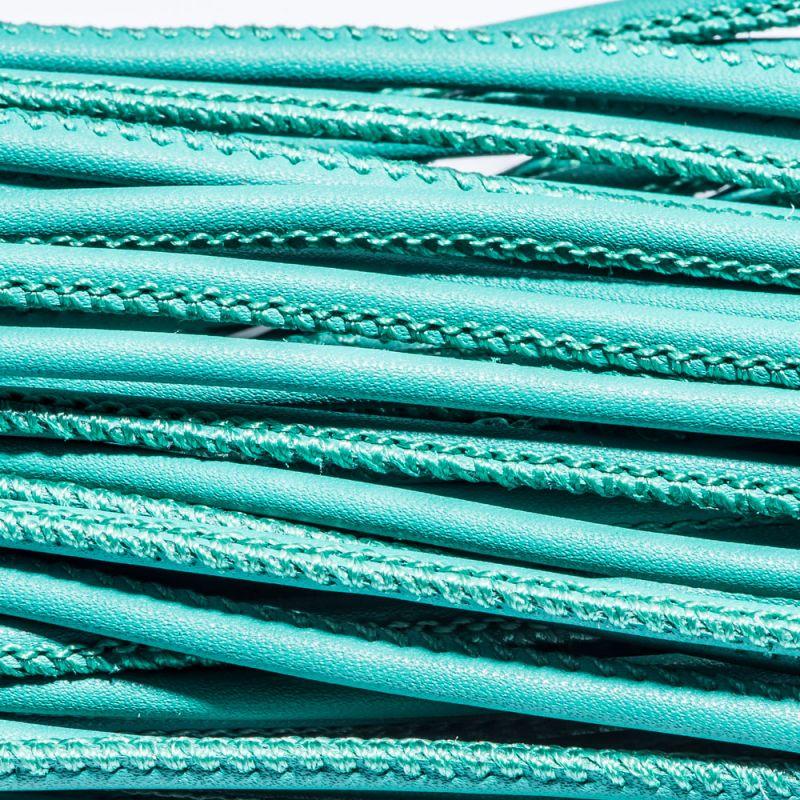 Snur piele ecologica rotund 3 mm verde - 1 m - magazinuldepietre.ro