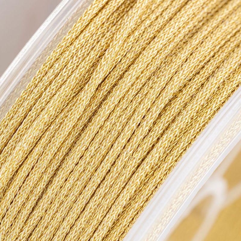 Fir textil metalizat auriu 1 mm - 3 m - magazinuldepietre.ro