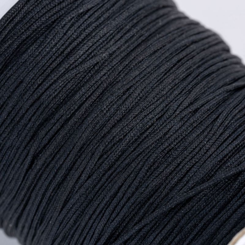 Fir textil negru 0.5 mm - 5 m - magazinuldepietre.ro