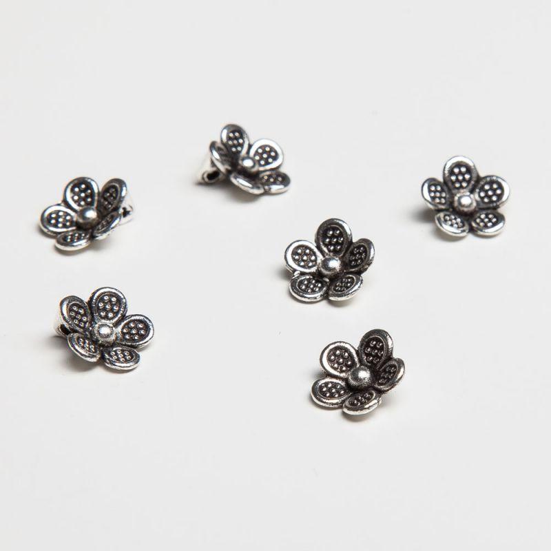 Charm floare 5 petale 9 mm - 20 buc