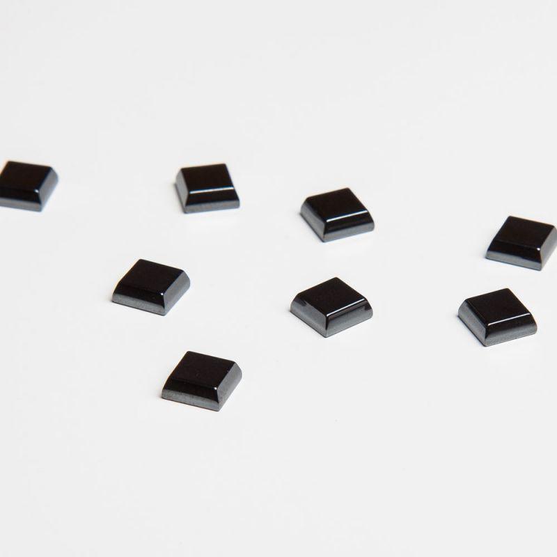Cabosoane hematit patrat 6 mm - 5 per