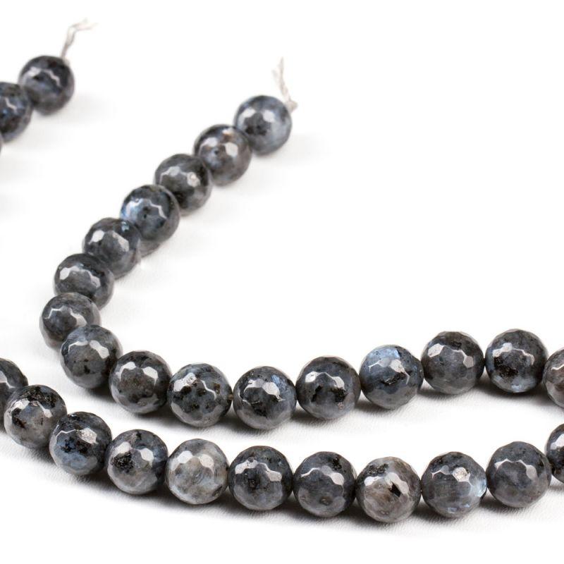 Labradorit negru sfere fatetate 10 mm - magazinuldepietre.ro