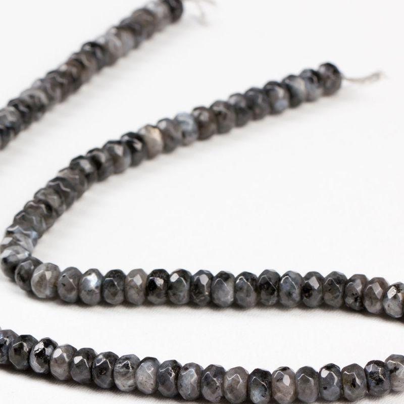 Labradorit negru discuri fatetate 6 mm - magazinuldepietre.ro