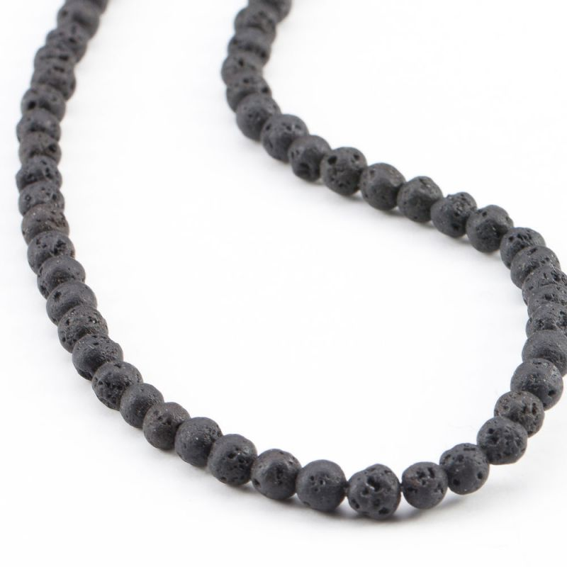 Lava negru sfere 4 mm