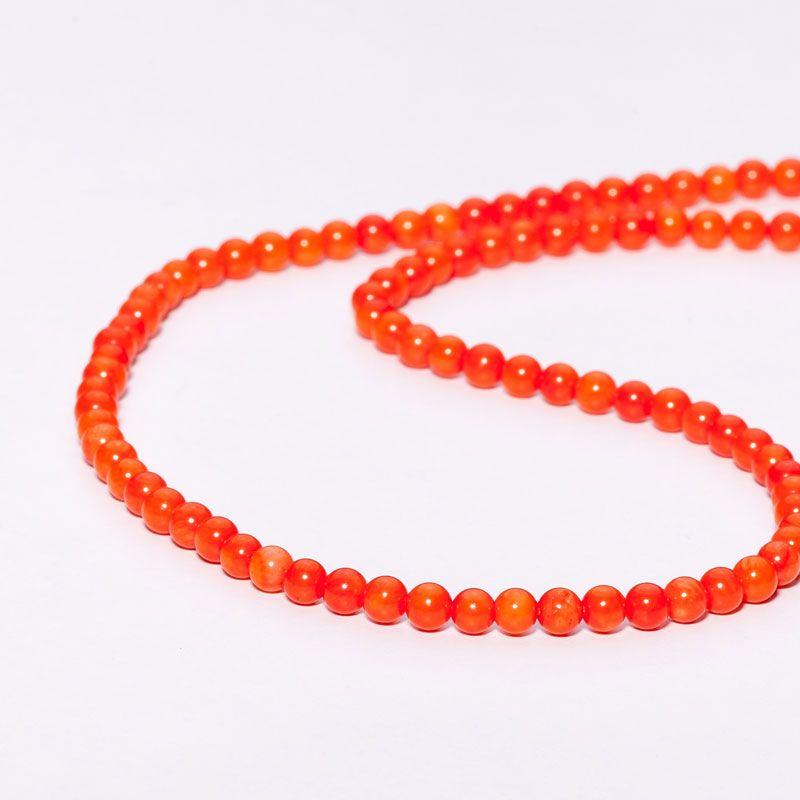 Coral portocaliu sfere 5 mm