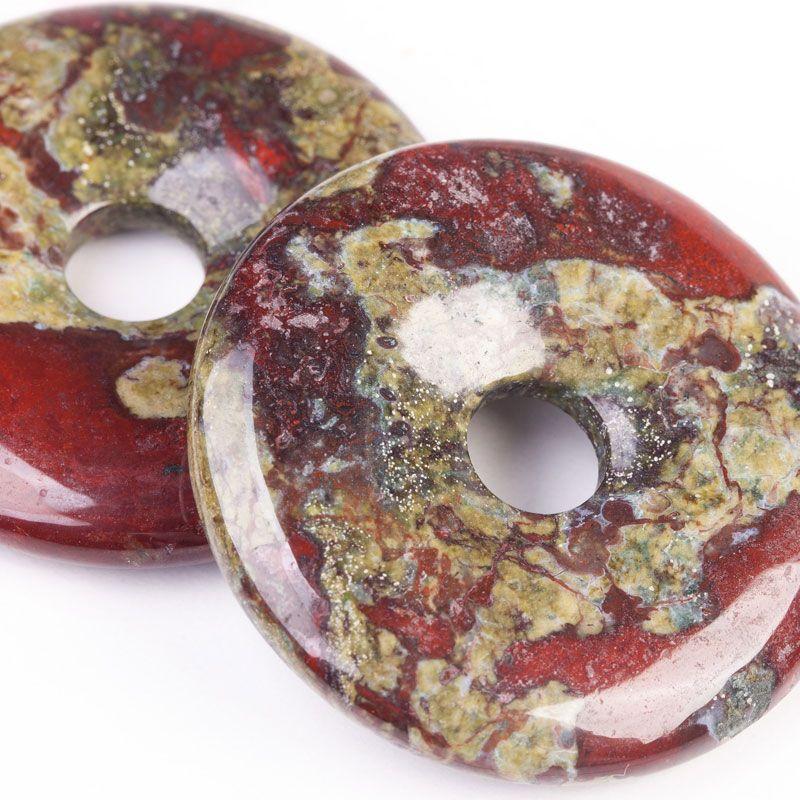 Jasp dinozaur donut 40 mm - magazinuldepietre.ro