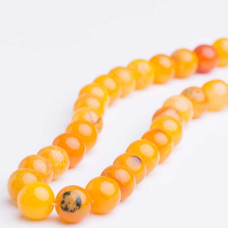 Agat crackle portocaliu sfere 12 mm