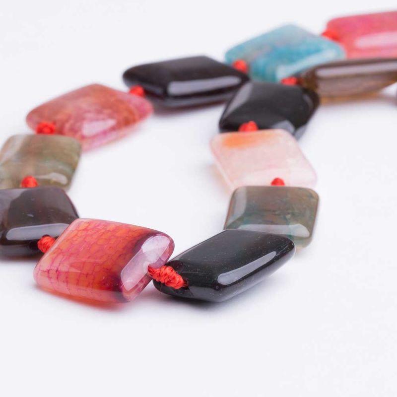Agat crackle multicolor dreptunghi 15x20 mm
