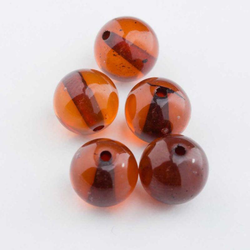 Chihlimbar brun sfera 8 mm - 1 buc
