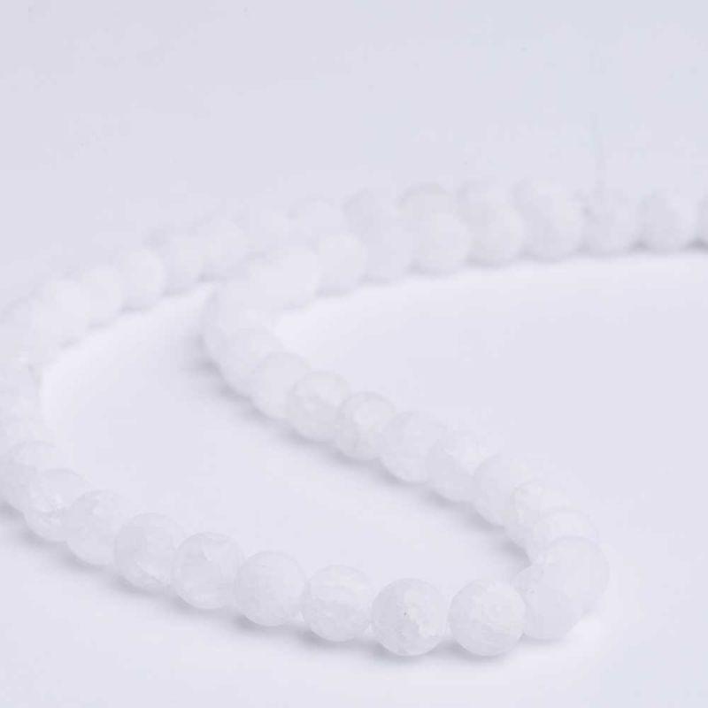 Cristal gheata mat sfere 8 mm - magazinuldepietre.ro