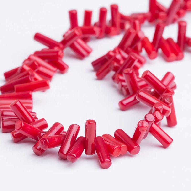 Coral rosu crengute 4x12 mm