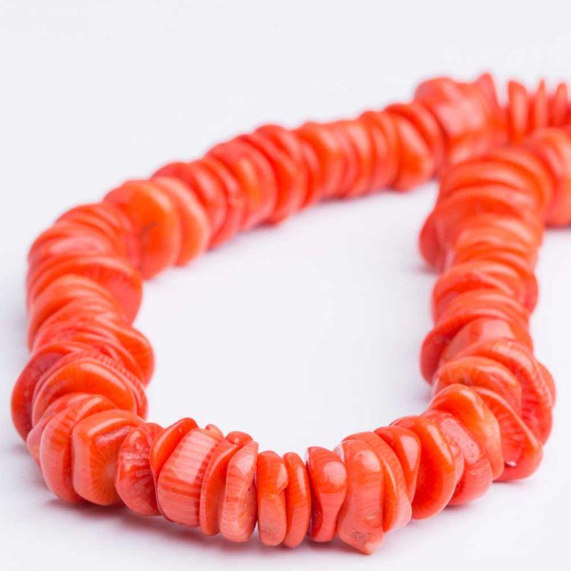 Coral portocaliu discuri neregulate 13 mm - magazinuldepietre.ro