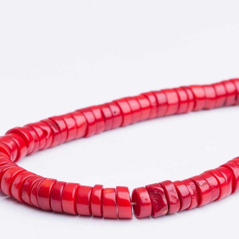 Coral rosu discuri drepte 10 mm