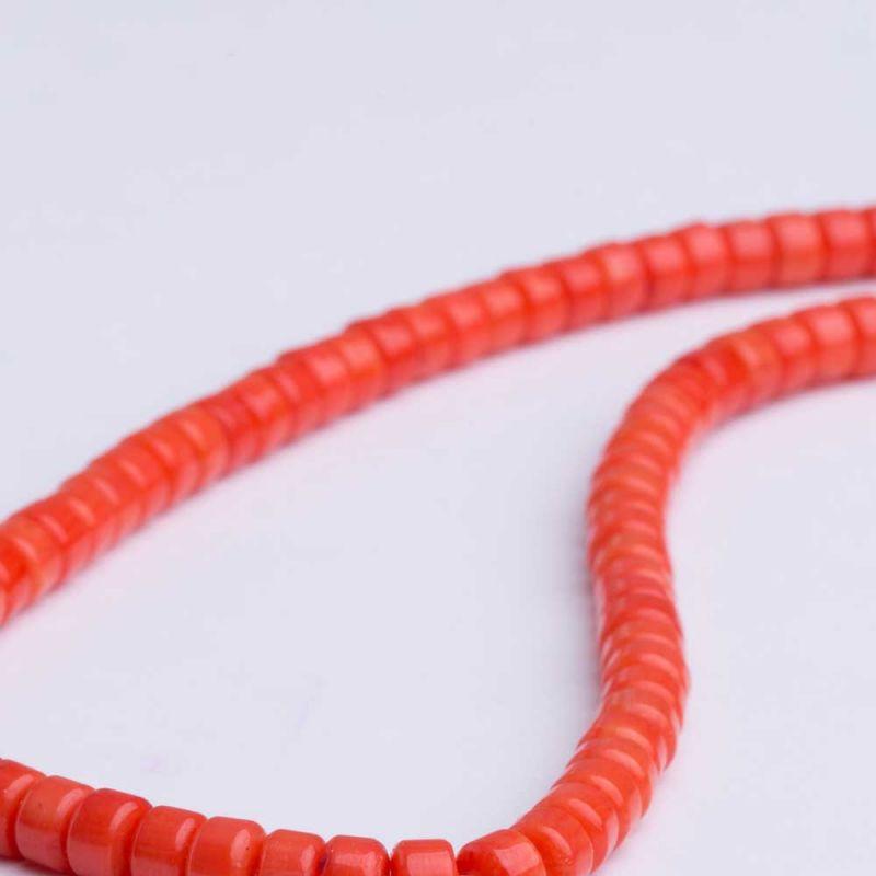 Coral portocaliu discuri drepte 4x6 mm - magazinuldepietre.ro