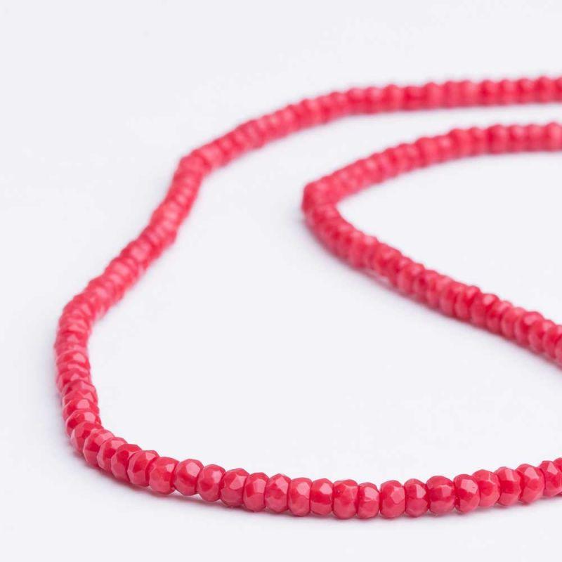 Coral rosu discuri fatetate 4 mm