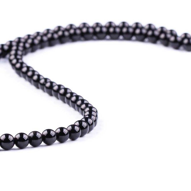 Turmalina neagra sfere 4 mm