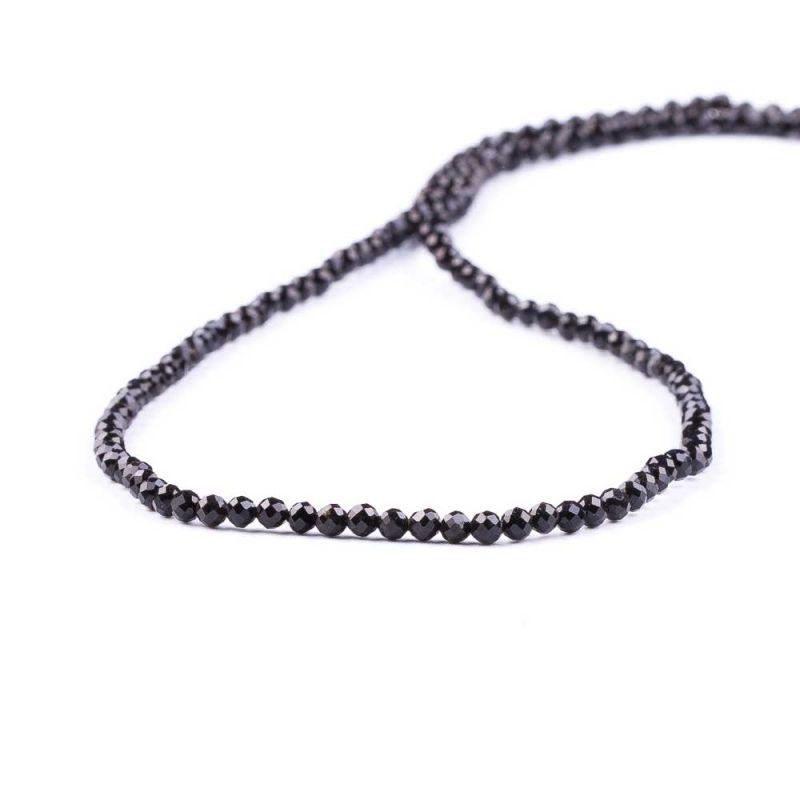 Turmalina neagra sfere fatetate 3 mm
