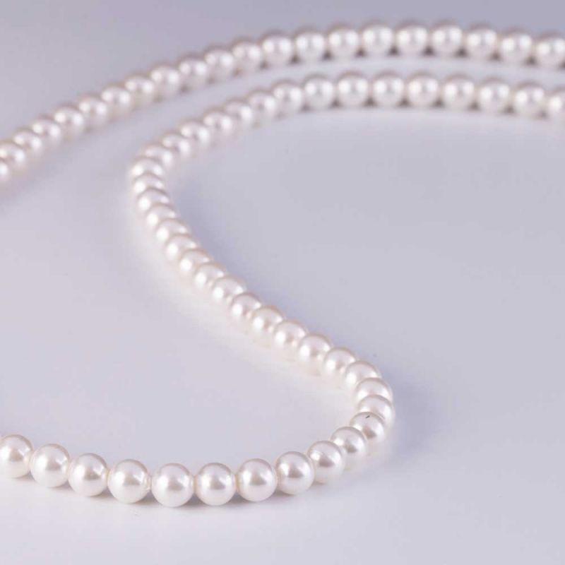 Scoica alb perlat sfere 4 mm