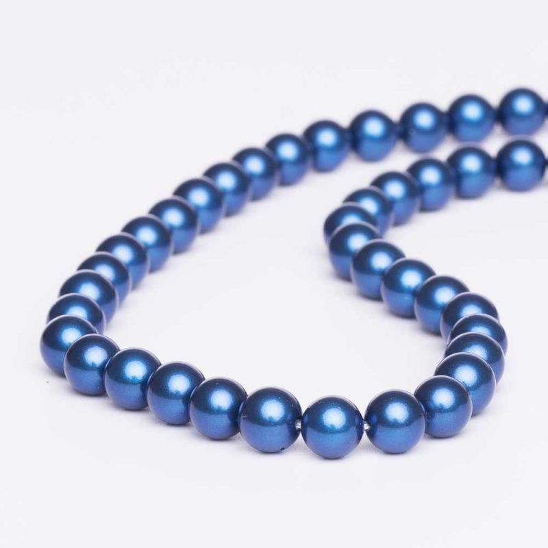 Scoica albastru electric sfere 8 mm - magazinuldepietre.ro