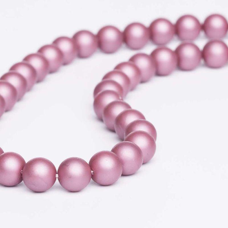 Scoica roze mat sfere 10 mm - magazinuldepietre.ro