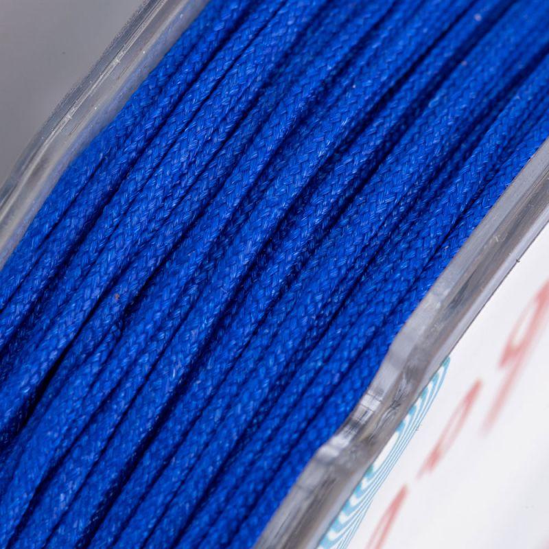 Rola fir textil albastru 0.8 mm 20 metri - magazinuldepietre.ro