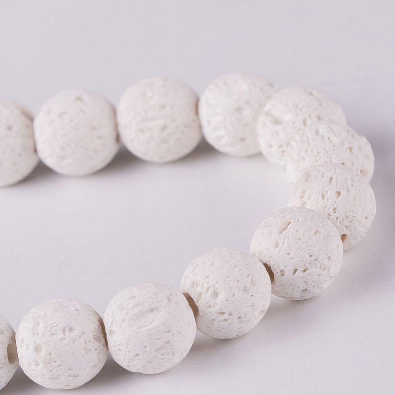 Lava alb sfere 8 mm