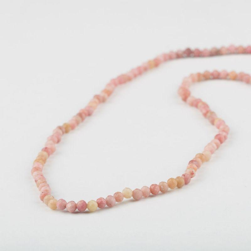 Rodonit roz sfere fatetate 3 mm