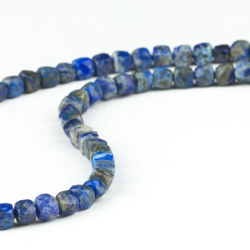Lapis lazuli cuburi fatetate 5 mm