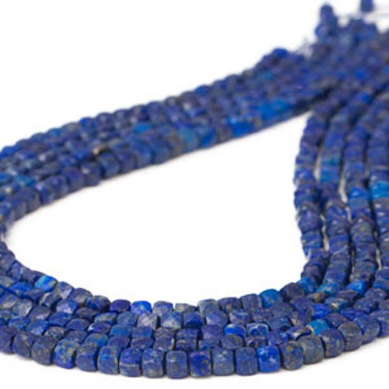 Lapis lazuli cuburi fatetate 4.5 mm - magazinuldepietre.ro