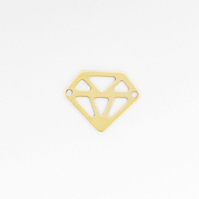 Link aur 14K diamant 8.5x10.5 mm  0.141 g - 1 buc - magazinuldepietre.ro