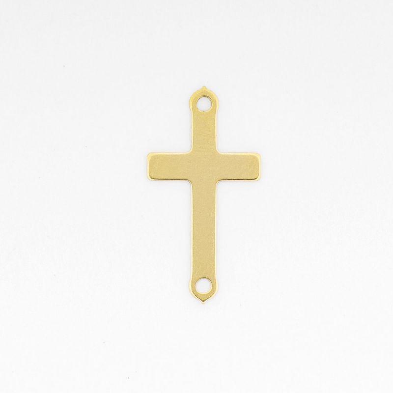 Link aur 14K cruce 8x15.5 mm 0.149 g orificiu 1.2 mm - 1 buc - magazinuldepietre.ro