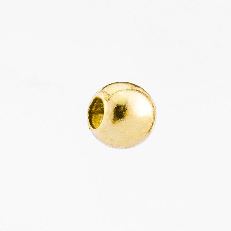 Sfera aur 14K 2.5 mm 0.042 g orificiu 1.2 mm - 1 buc - magazinuldepietre.ro