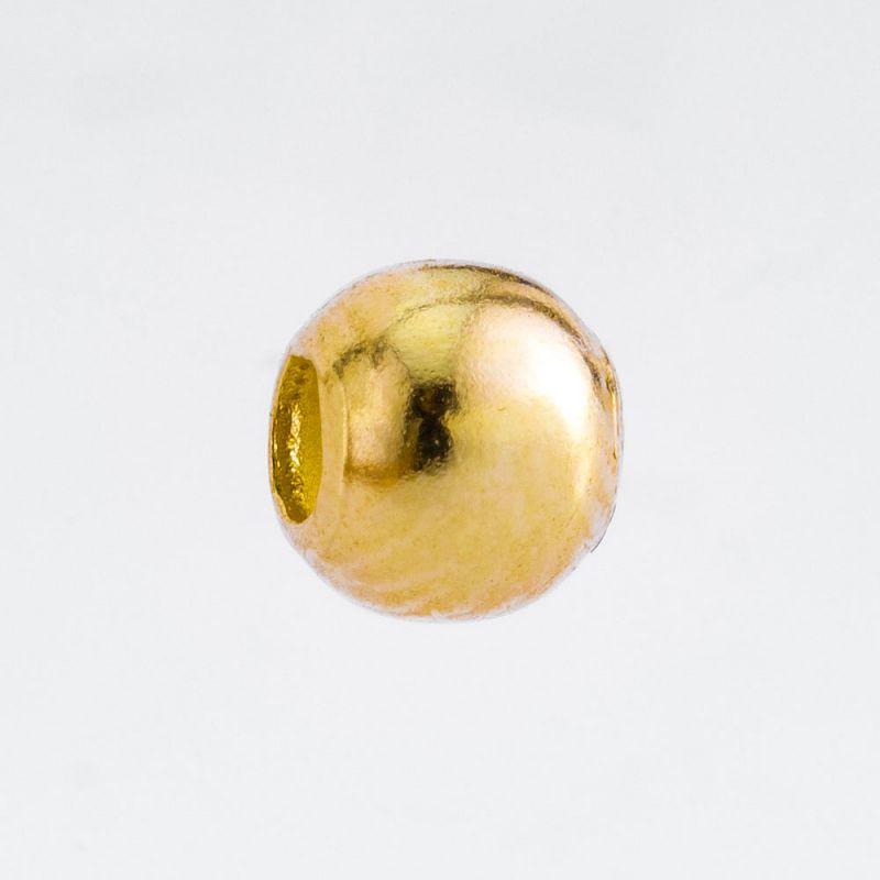 Sfera aur 14K 4 mm 0.169 g orificiu 1.5 mm - 1 buc - magazinuldepietre.ro