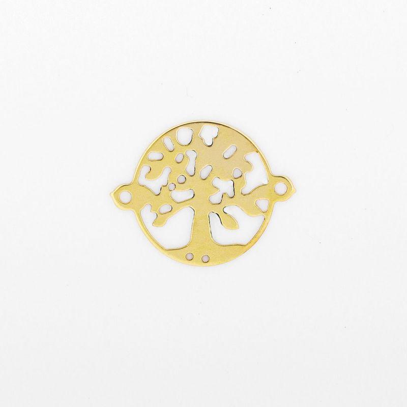 Link aur 14K tree of life 10x13 mm 0.2 g orificiu 0.8 mm - 1 buc - magazinuldepietre.ro