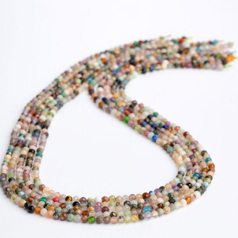 Mix pietre semipretioase sfere fatetate 2.5 mm - magazinuldepietre.ro