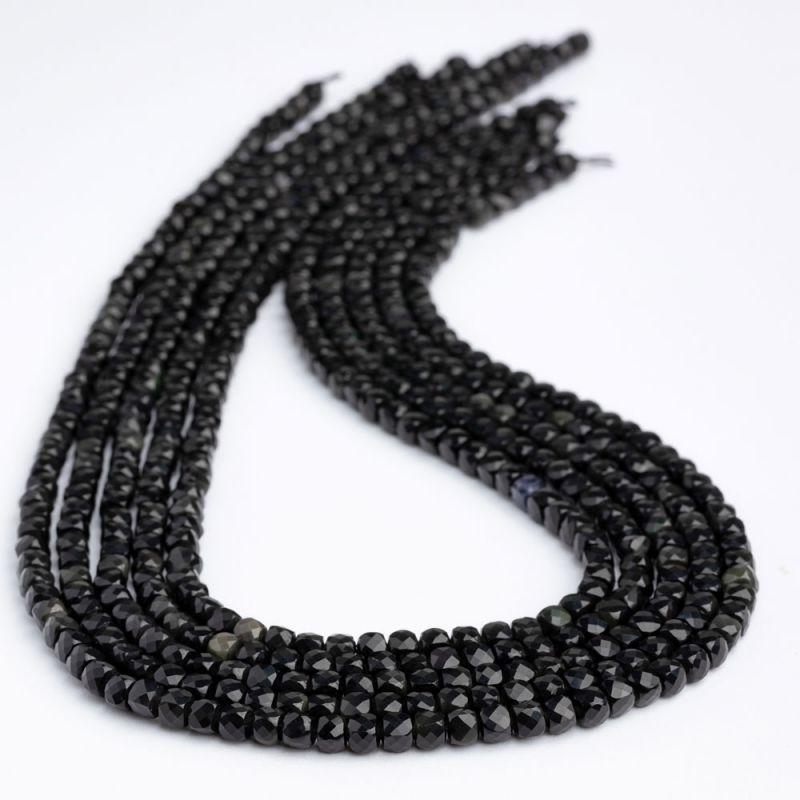 Obsidian cuburi fatetate 4.5 mm - magazinuldepietre.ro