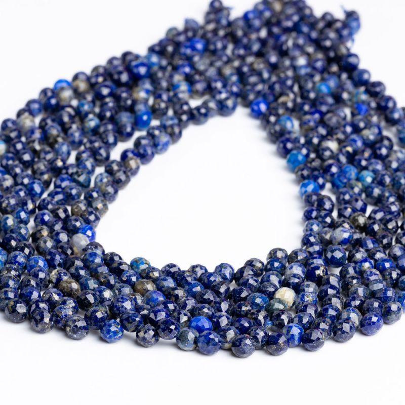 Lapis lazuli briolete fatetate 5x5.5 mm - magazinuldepietre.ro