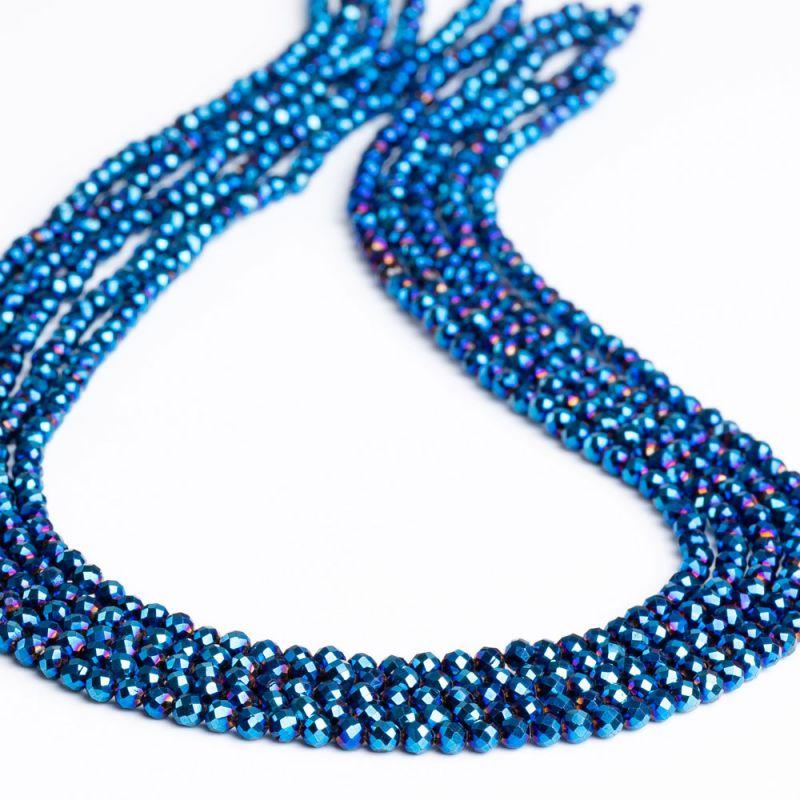 Spinel placat albastru sfere fatetate 3 mm - magazinuldepietre.ro