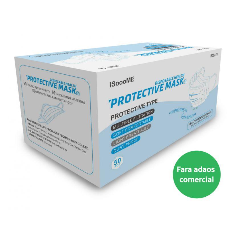 Masti de protectie, 3 straturi, pachet 50 bucati, certificat CE, albastre - 50 buc